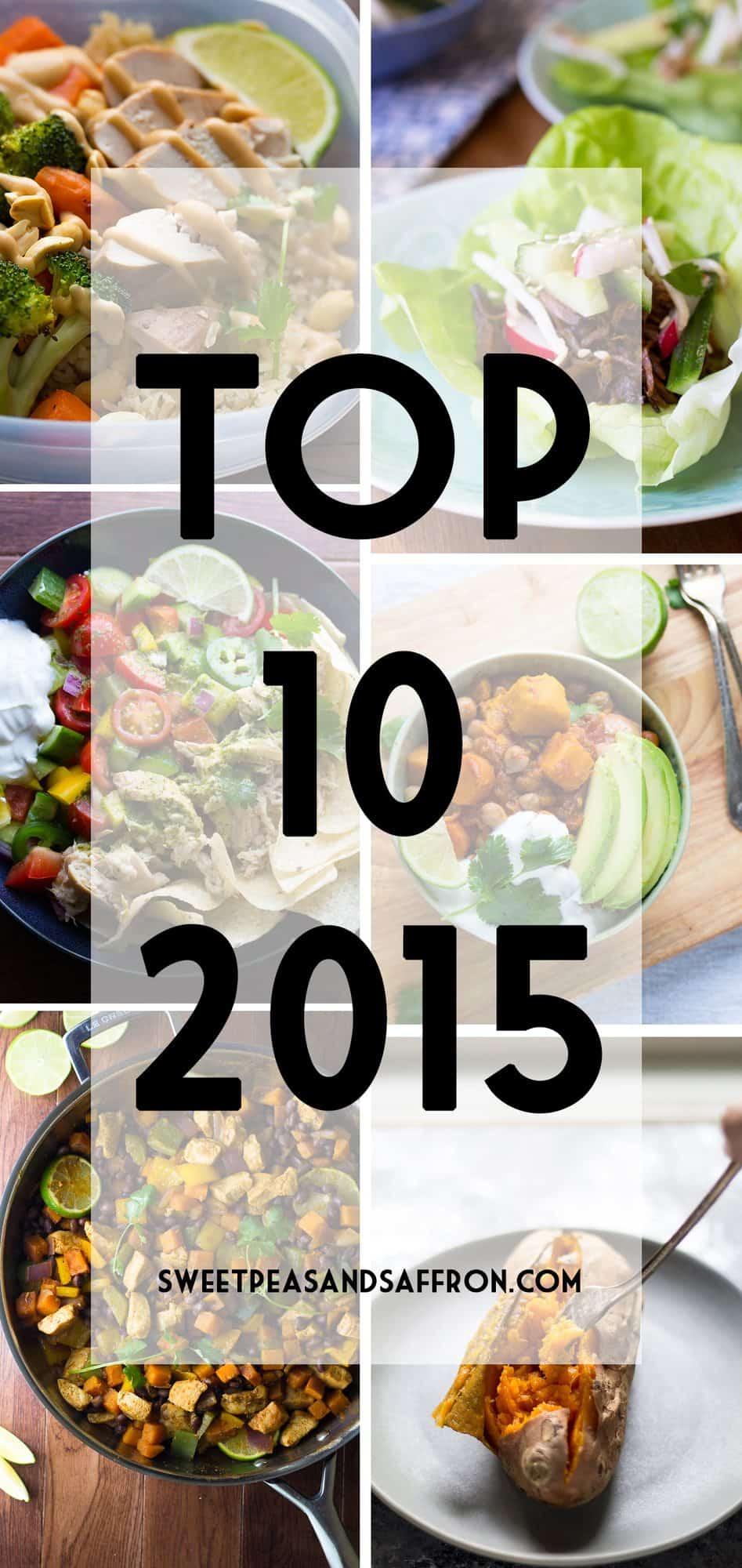 Top 10 Recipes from 2015- Sweet Peas & Saffron