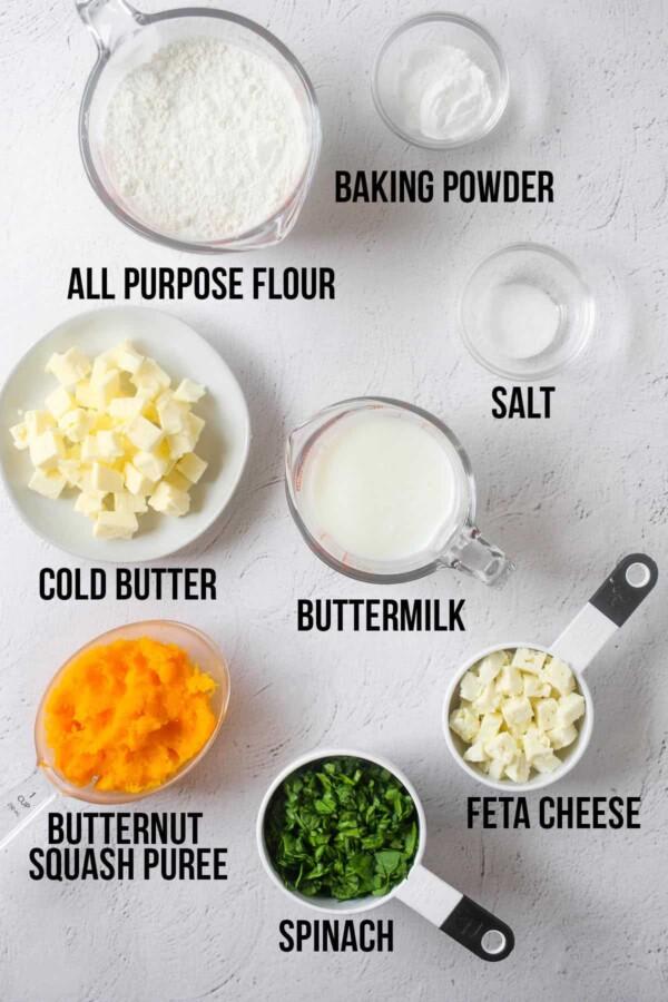 ingredients required to make butternut squash scones