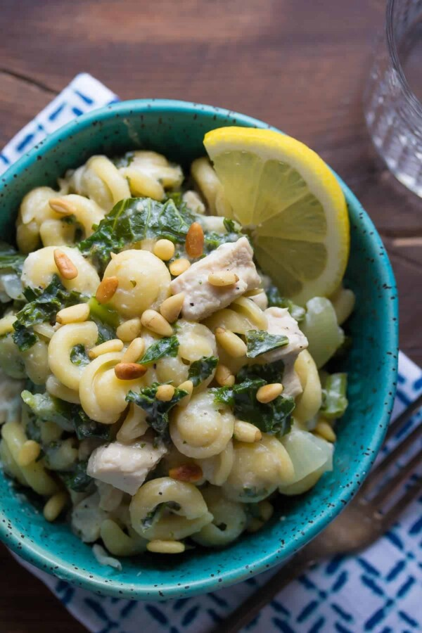 One Pot Pasta with Kale & Goat Cheese-5