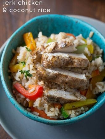 One Pot Caribbean Chicken and Rice