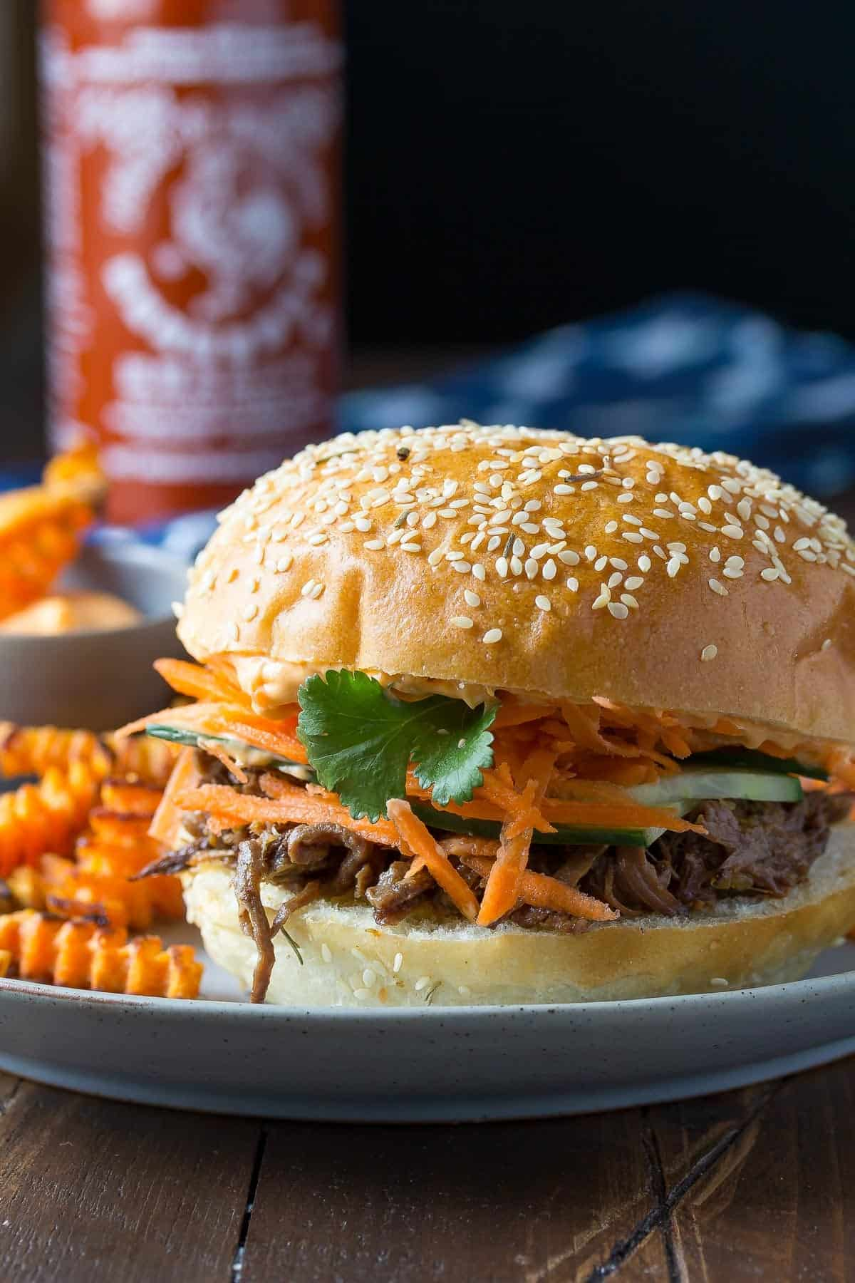 Pulled Beef Sandwiches with Sriracha Mayo-8
