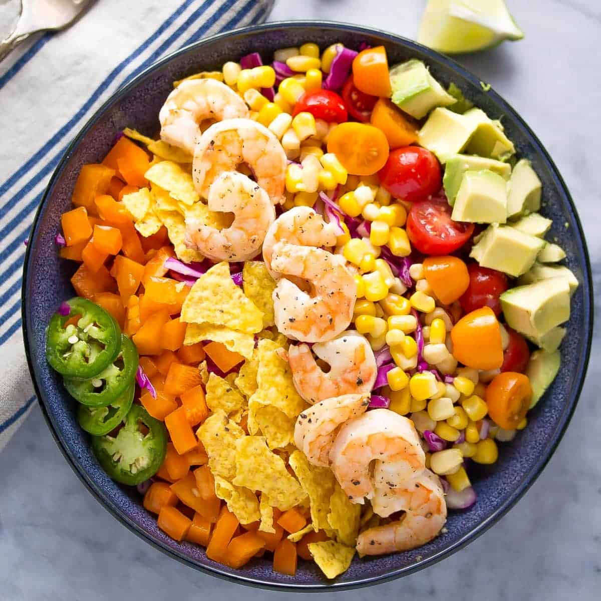 Honey Lime Shirmp Taco Salad