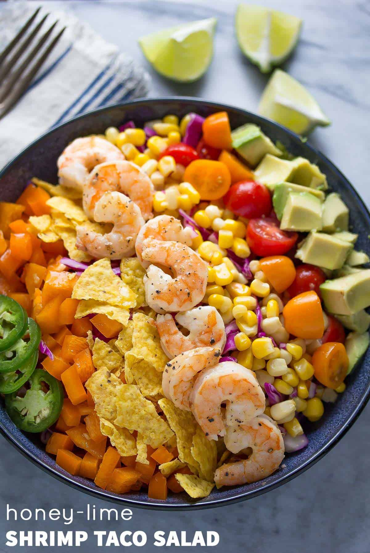 Honey-Lime Shrimp Taco Salad (20 Minutes)