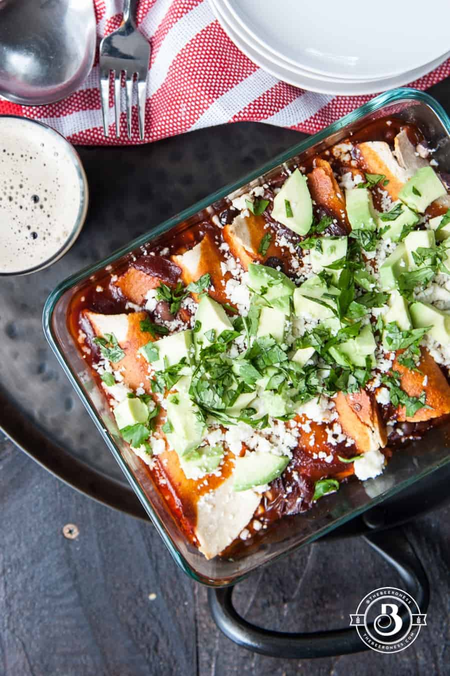 Corn-and-Black-Bean-Enchiladas-with-Chipotle-Stout-Red-Sauce-8
