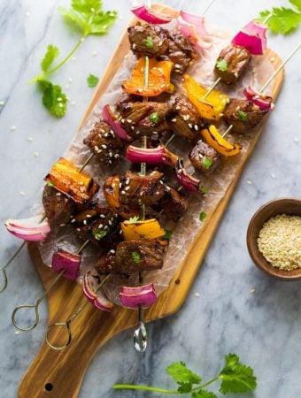 Korean Beef Skewers (Beef Bulgogi)