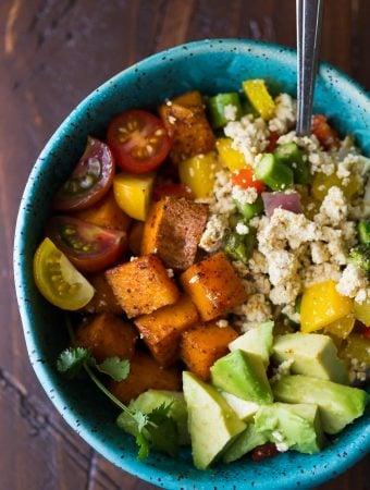 Tofu Scramble & Breakfast Sweet Potatoes (Make Ahead)