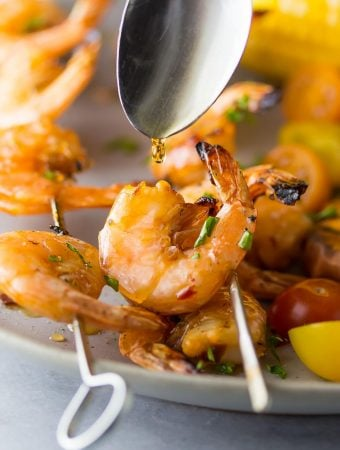 Chipotle Grilled Shrimp Skewers with Maple Glaze
