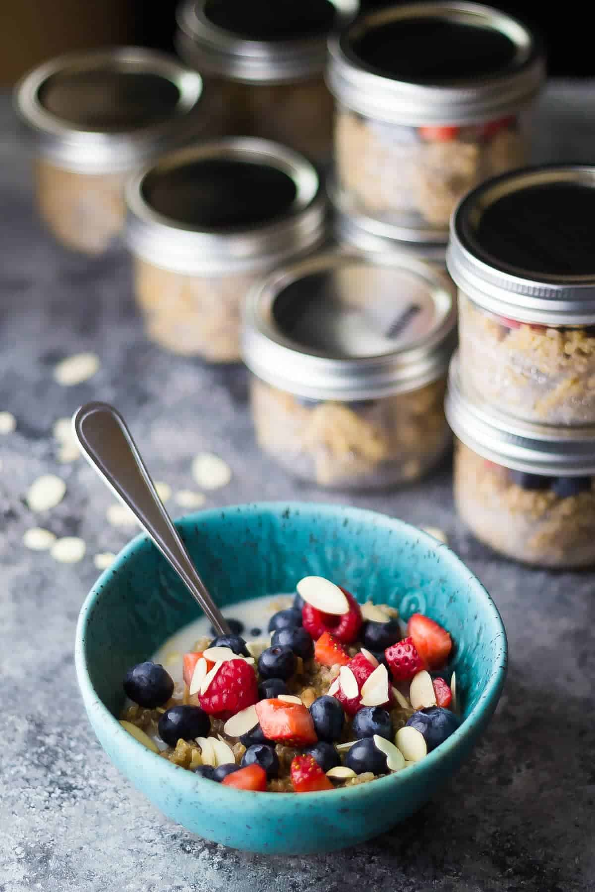 Berry Almond Breakfast Quinoa-6