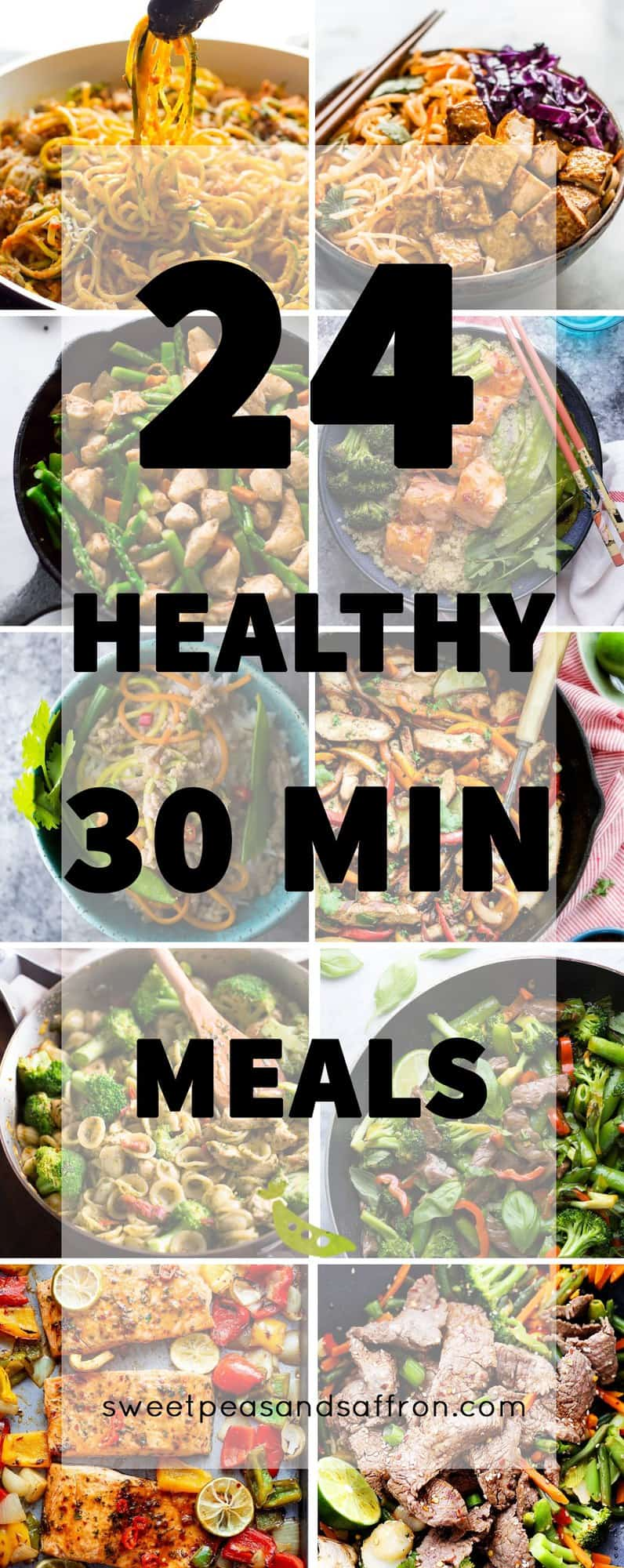 24 Healthy 30 Minute Meals