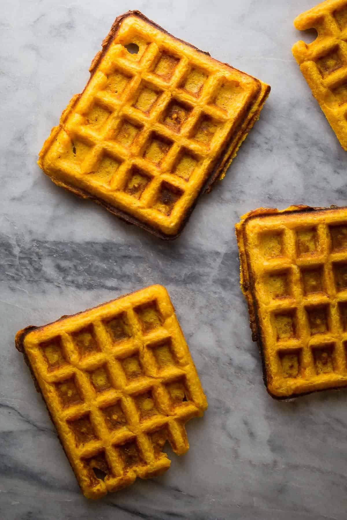 Freezer Friendly Crispy Sweet Potato Waffles-2