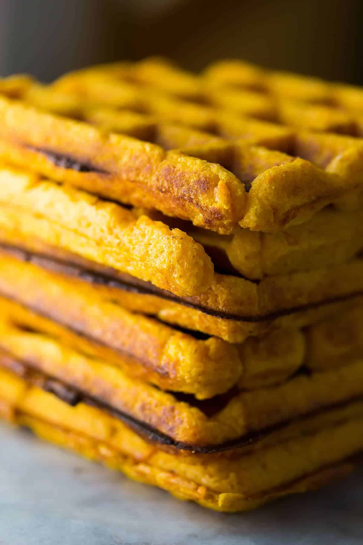 Freezer Sweet Potato Waffles (Extra Crispy)