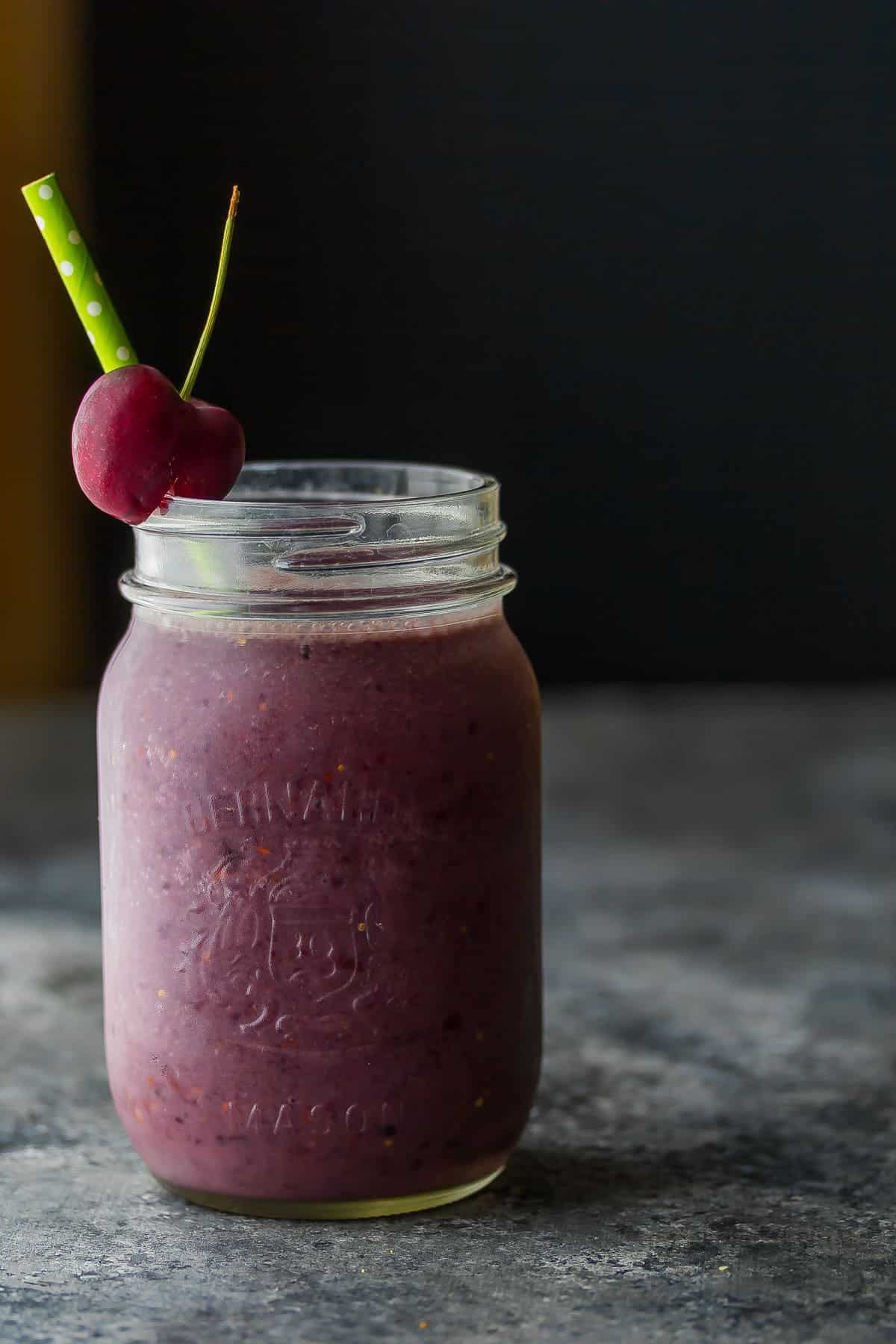 Goji Peach Cherry Smoothie to promote calmness and improved sleep