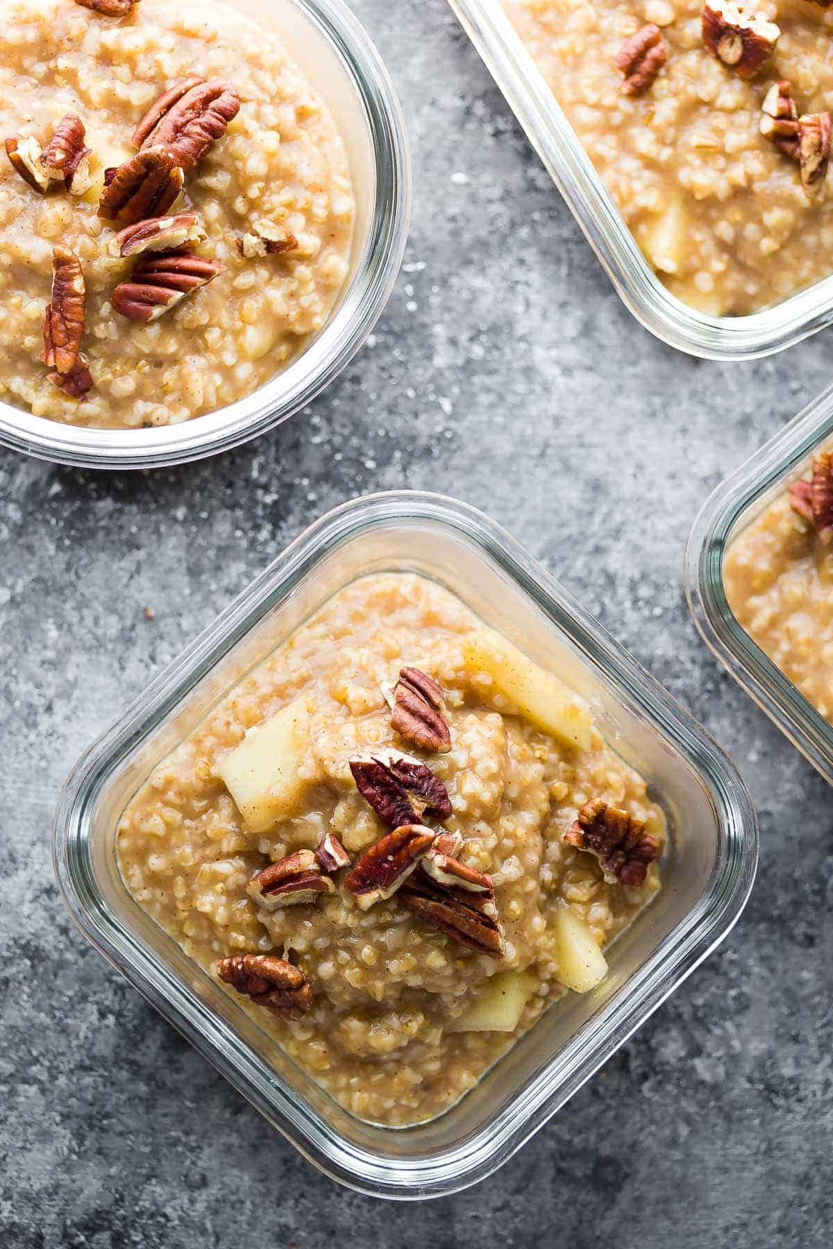 Maple Apple Steel Cut Oats (Make Ahead)