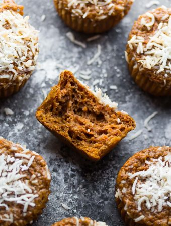 Coconut Carrot High Protein Muffins