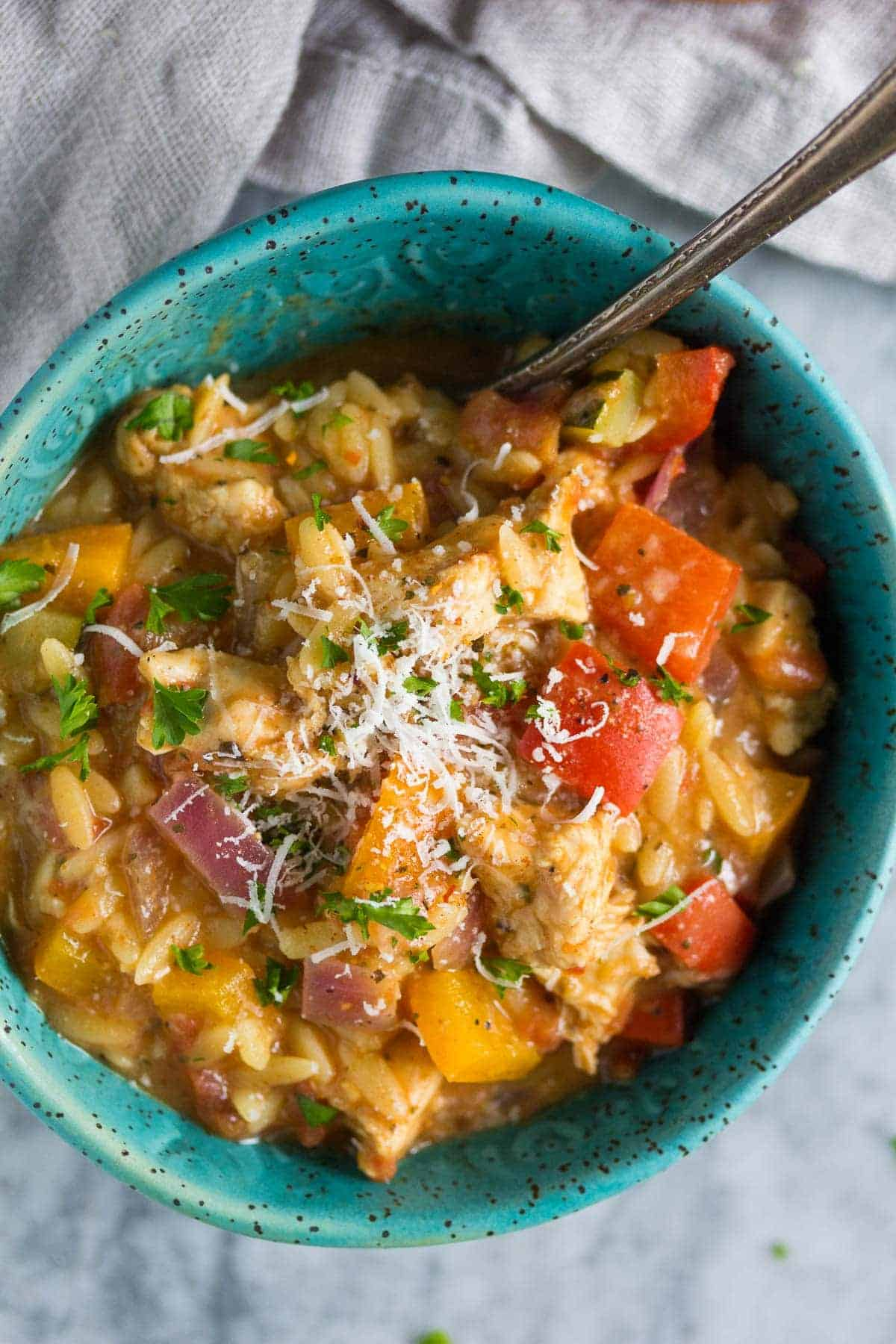 Healthy Cajun Chicken Orzo-5