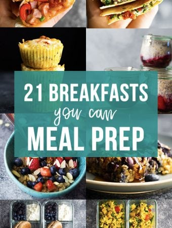 collage image 21 breakfasts you can meal prep