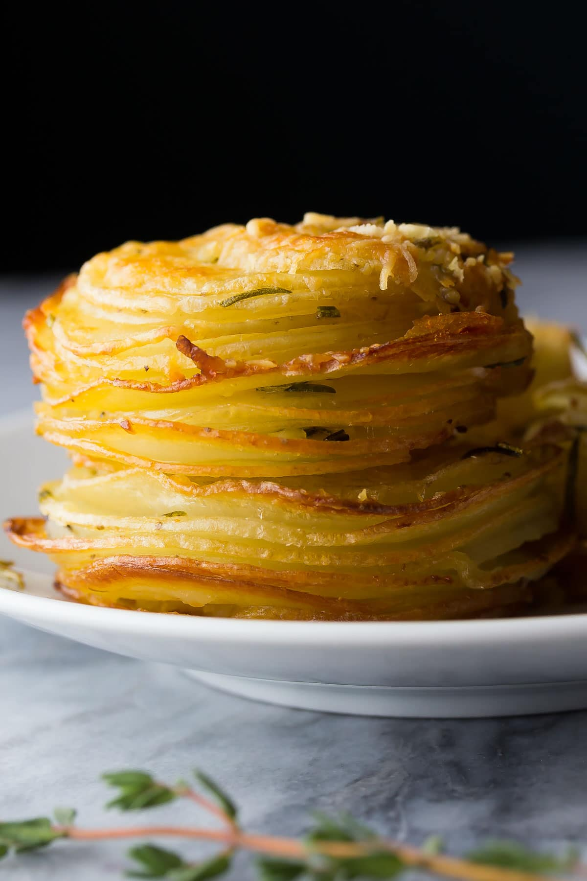 Impress your guests with these Herb and Garlic Potato Stacks! (With Video)