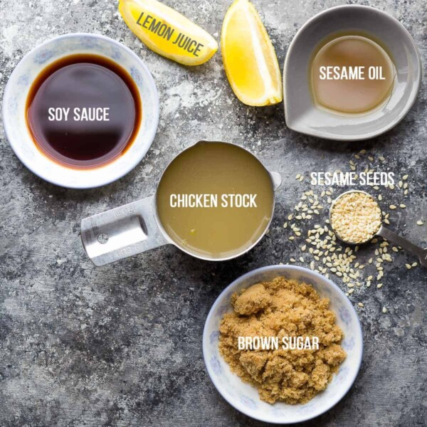 Lemon Sesame Chicken Stir Fry Sauce ingredients