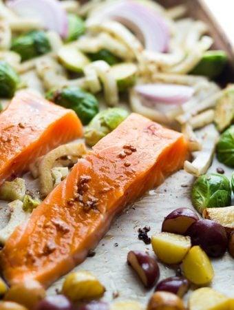 Mediterranean Salmon Sheet Pan Dinner