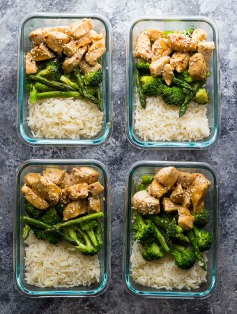 Honey Sesame Chicken Lunch Bowls