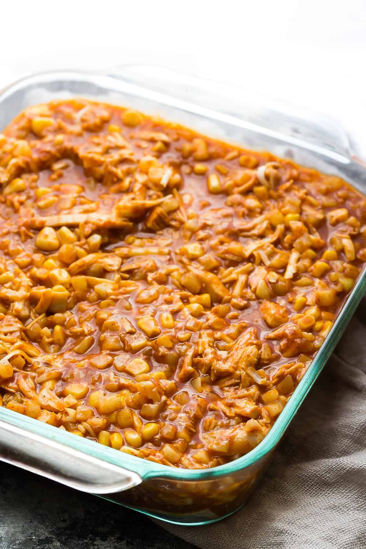 Cauliflower Rice Chicken Enchilada Casserole | Sweet Peas ...
