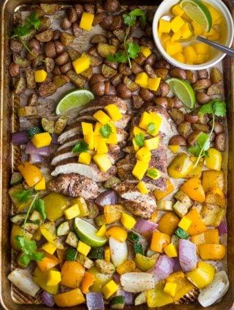 Jamaican Chicken Sheet Pan Dinner