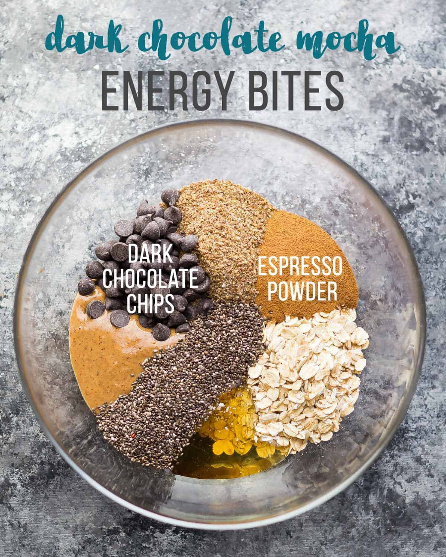 Dark Chocolate Mocha Energy Bites