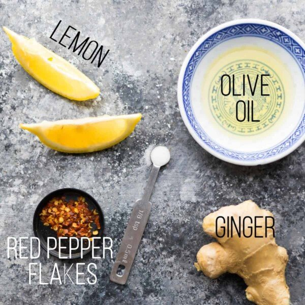 Ingredients for Ginger and lemon chicken marinade