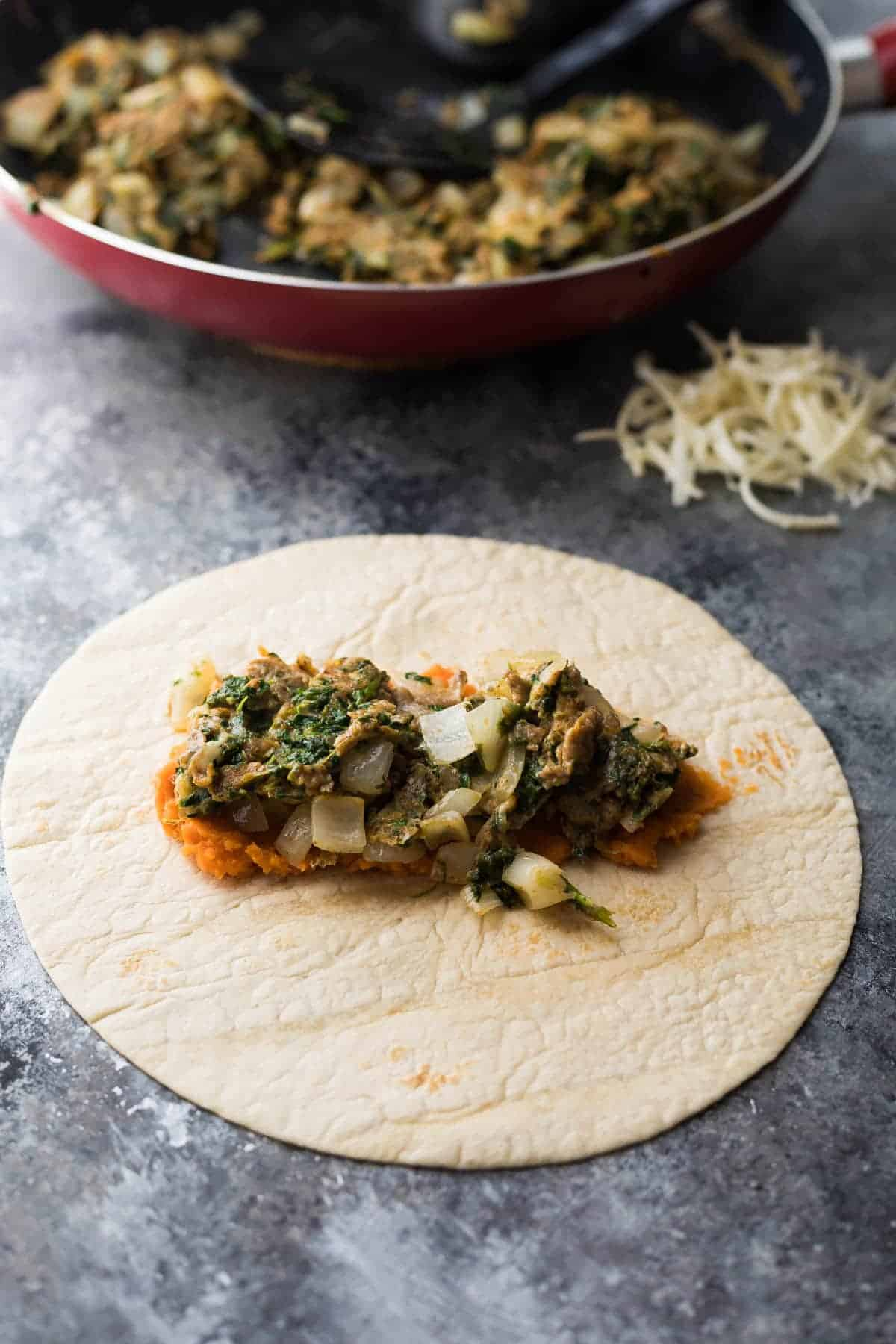 These southwestern sweet potato breakfast burritos are the perfect meal prep breakfast to stock up your freezer, and are guaranteed to keep you full!