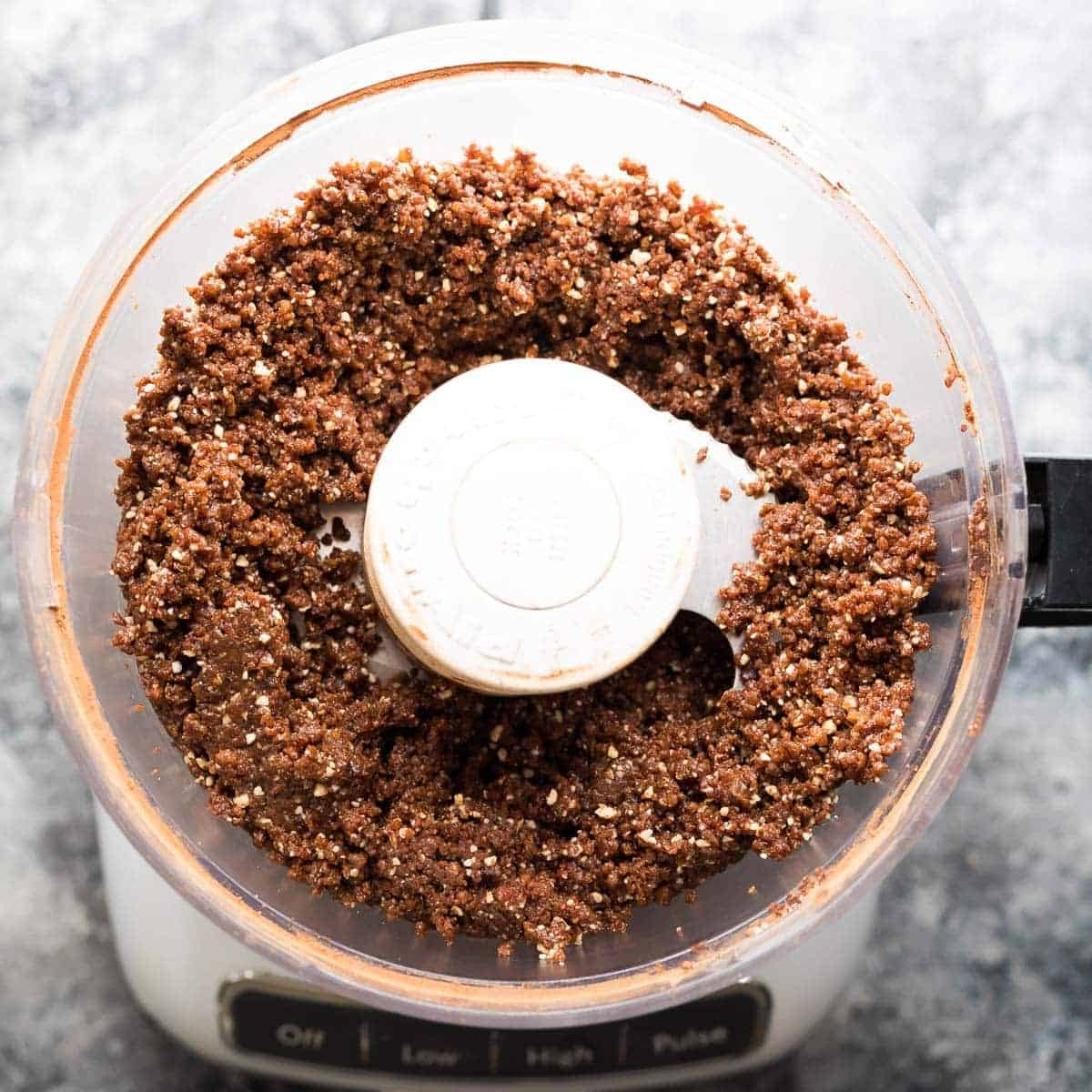 fudgy, with a little crunch from toasted quinoa, and a sprinkling of sea salt on top