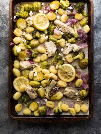 Make Ahead Lemon Chicken Sheet Pan Gnocchi
