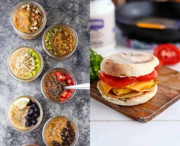 59 delicious vegan meal prep recipes including vegan breakfast recipes that will have you covered for convenient plant-based breakfasts, lunches, dinners and snacks! These recipes are easy to prepare ahead for the week, and are packed with protein to leave you feeling full. #mealprep #vegan #lunch #makeahead #freezer #dinner #plantbased #healthy