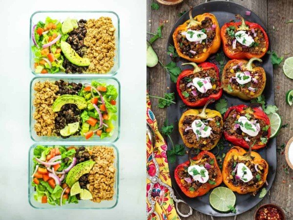 59 vegan meal prep recipes including vegan lunch ideas that will have you covered for convenient plant-based breakfasts, lunches, dinners and snacks!