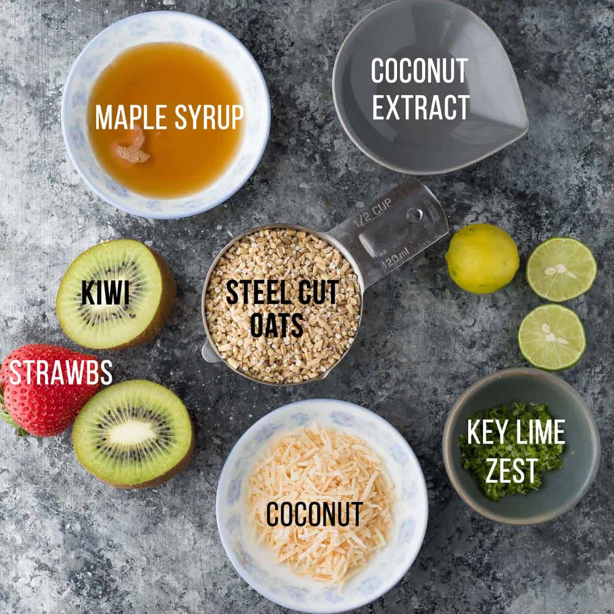 7 healthy steel cut oatmeal recipes that are easy to make ahead and keep in the fridge or freezer for easy breakfasts. Plus instructions on how to cook steel cut oats in the Instant Pot, slow cooker or on the stovetop. #breakfast #oatmeal #instantpot #mealprep #freezermeal #steelcutoats