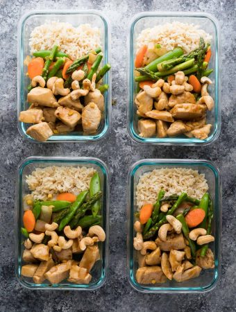 Maple Ginger Chicken Meal Prep Lunch Bowls