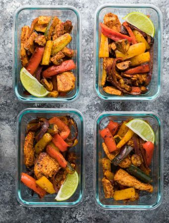 Meal Prep Chicken Fajitas (Sheet Pan)