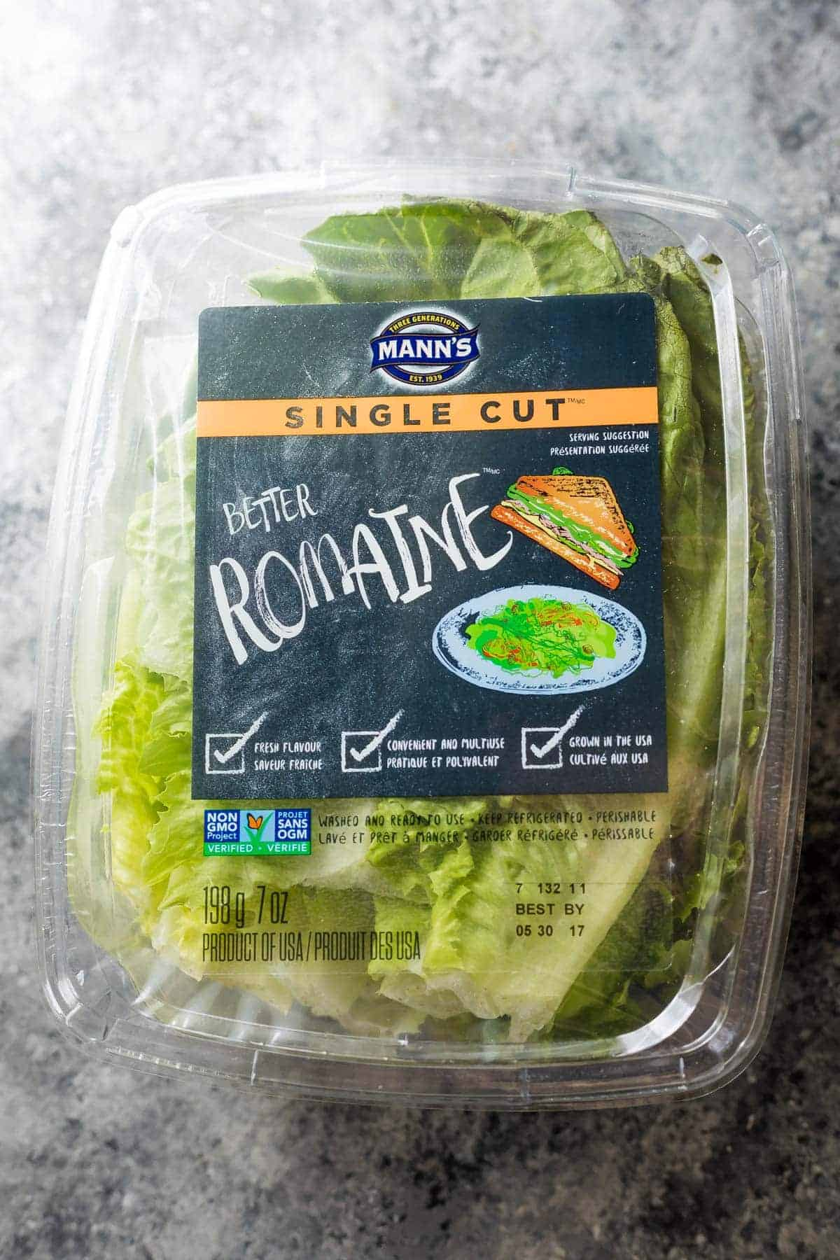 Better romaine lettuce for the lettuce wraps recipe