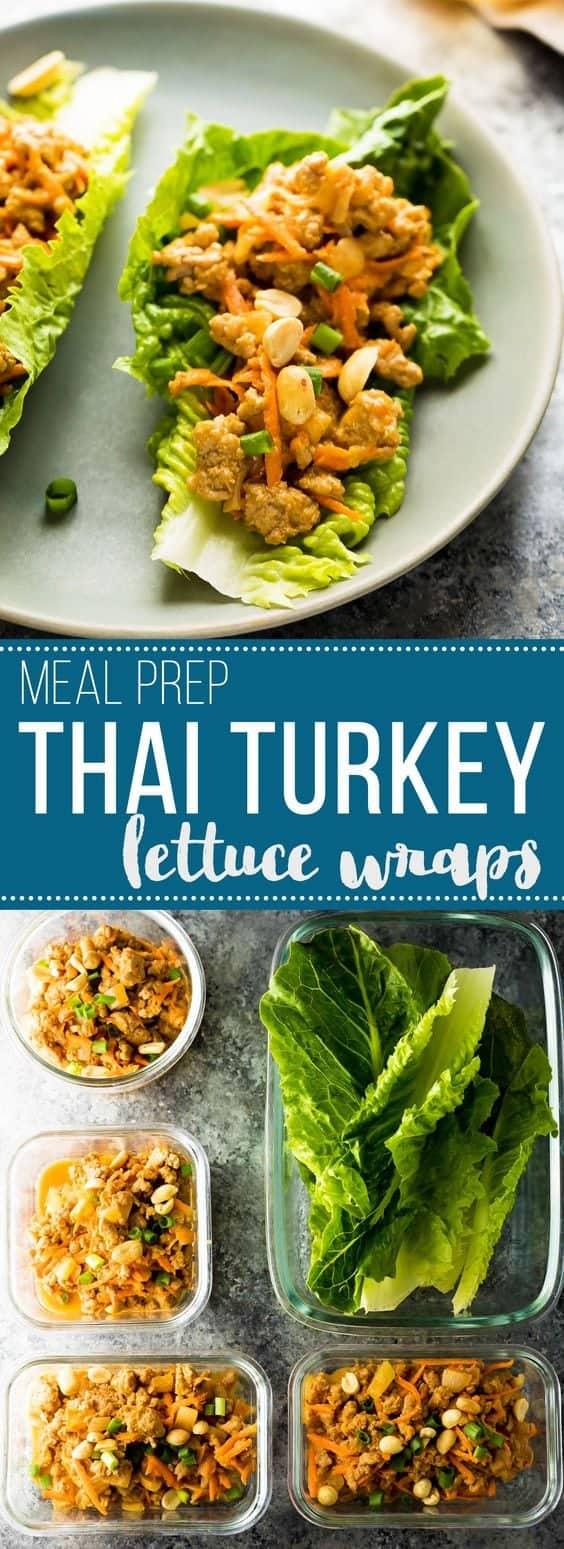 Thai Turkey Meal Prep Lettuce Wraps Sweet Peas And Saffron