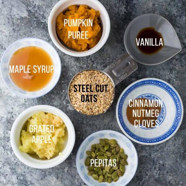 ingredients required to make pumpkin steel cut oats