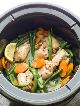 Slow Cooker Lemon Garlic Chicken Thighs (Freezer to Crock Pot)