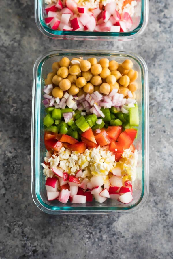 21 make ahead salads that are perfect for meal prep...not to mention tasty, healthy, and packed full of veggies!