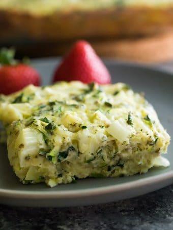 Herb Zucchini & Kale Egg Bake (Meal Prep)