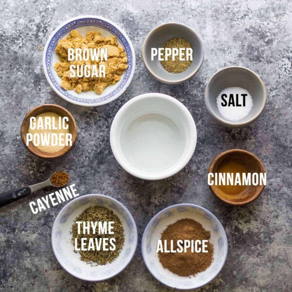 7 easy dry rub recipes for meat or veggies-- these rubs are absolutely perfect to mix up the flavors in your meal prep! They are great on sheet pan dinners, roasted or grilled veggies, meat and seafood.