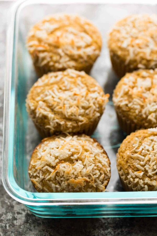 These lemon chia yogurt muffins have no butter or oil, and clock in at only 148 calories each. They are toddler approved, freezer friendly, and the perfect light meal prep snack!