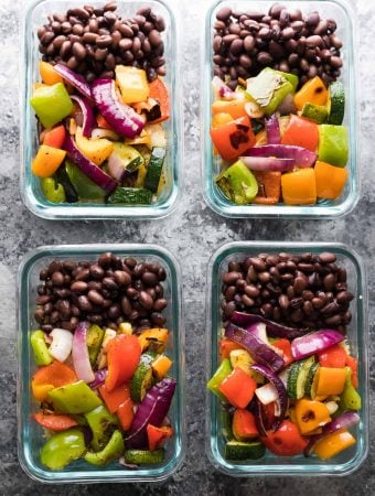 Grilled Veggie & Black Bean Meal Prep Bowls