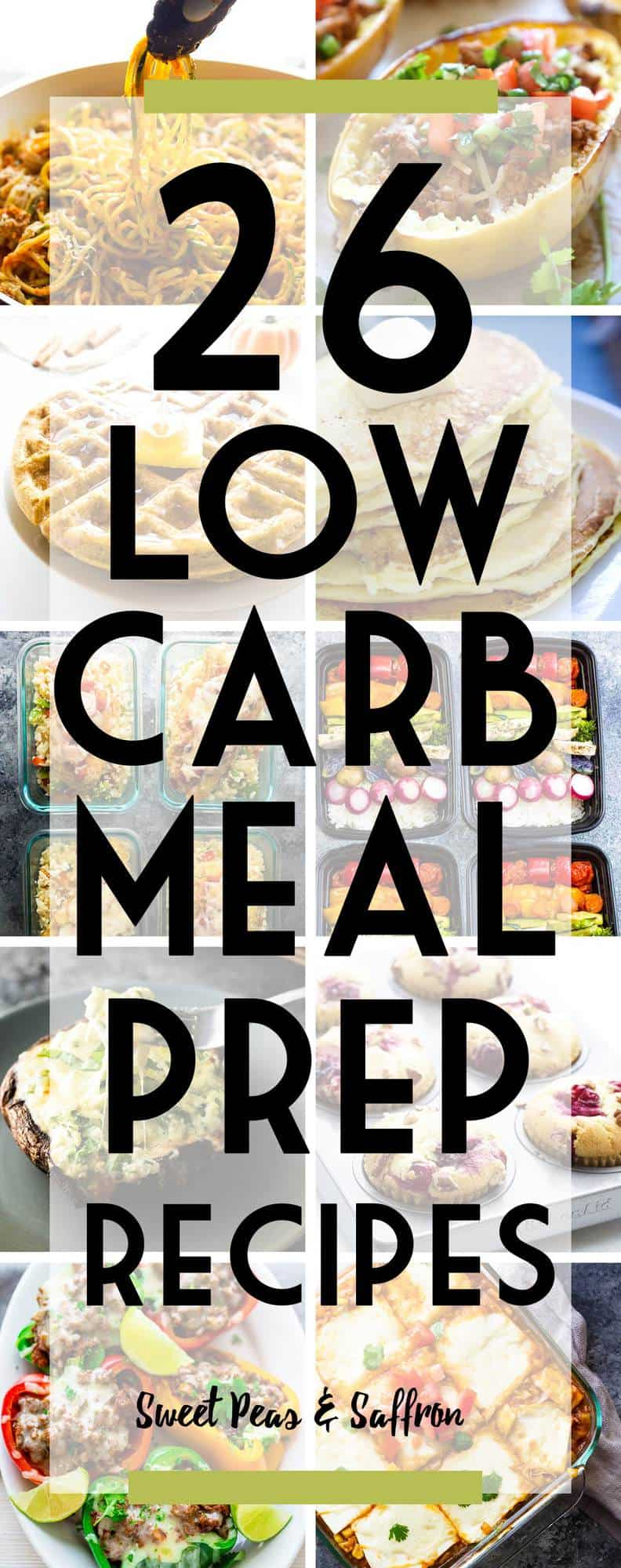 These low carb meal prep recipes have got you covered for breakfast, lunch, dinner and snacks! Carb grams listed so you don't have to hunt them down yourself.