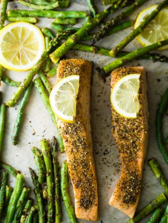 Lemon Pepper Sheet Pan Salmon (Prep Ahead)