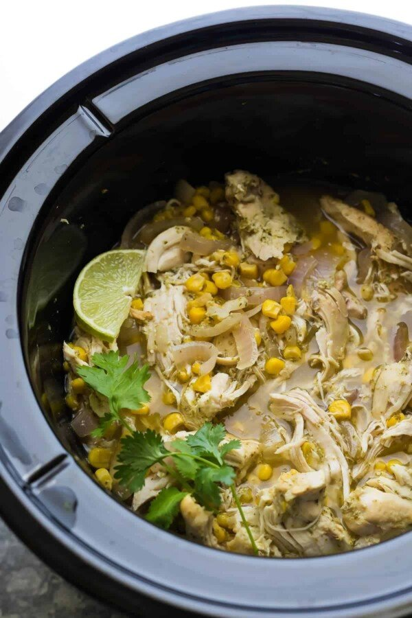Slow Cooker Cilantro Lime Chicken Tacos (Freezer Slow ...