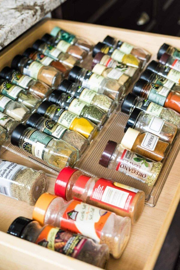 spice drawer pantry staples