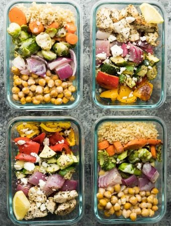 2 for 1 Meal Prep: Chickpea Buddha Bowls & Greek Chicken Wraps